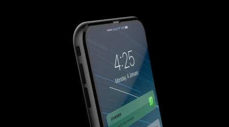 Дизайнер создал необычный концепт iPhone 8 в стеклянном корпусе и с Touch Bar вокруг кнопки Home [видео]
