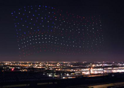 Выступление Lady Gaga во время финала НФЛ сопровождало световое шоу с участием 300 дронов Intel