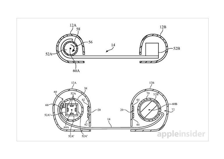 Apple запатентовала устройство сосворачивающимся экраном