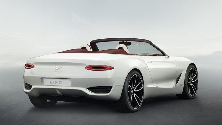 Bentley представила концепт электрического родстера EXP 12 Speed 6e с беспроводной зарядкой батарей