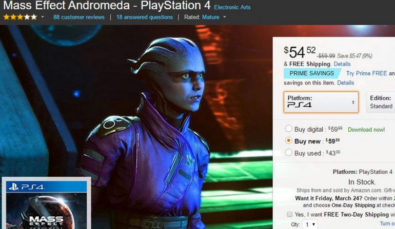 Игра Mass Effect: Andromeda поступила в реализацию