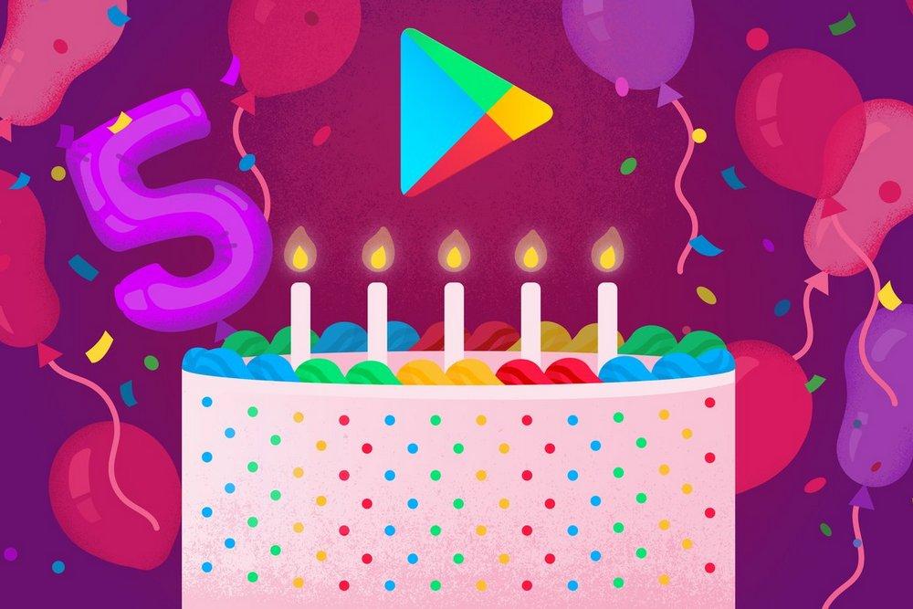 Google Play исполнилось 5 лет