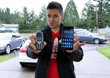 Смартфон Nokia 6 попытались согнуть (безуспешно) и сравнили с легендарным Nokia 3310 в испытании на прочность [видео]