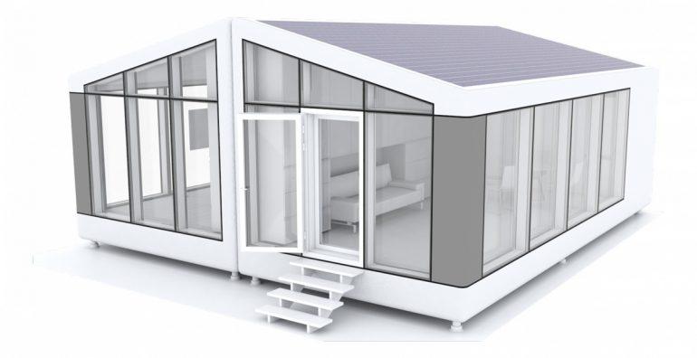 Украинская компания PassivDom предлагает автономный мобильный дом, создаваемый при помощи 3D-печати