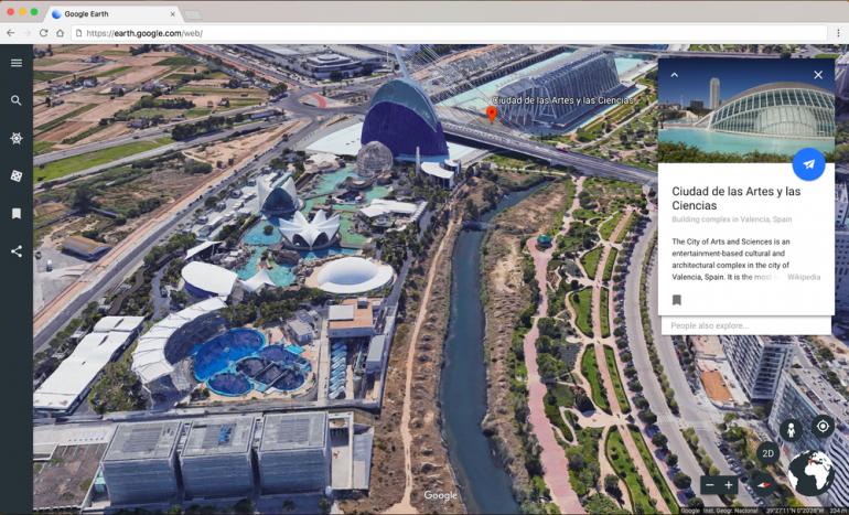 В обновлённом сервисе Google Earth появились 3D виды, интерактивные экскурсии и кнопка «Мне повезёт»