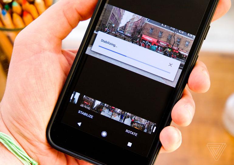 ВGoogle Фото возникла функция нормализации изображения вотснятых видео