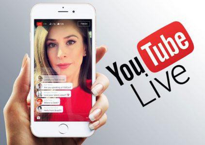 В YouTube снижены требования по количеству подписчиков на канале для организации прямых трансляций с мобильных устройств
