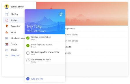 Microsoft To-Do — замена популярного планировщика задач Wunderlist