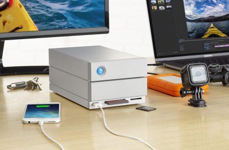 LaCie представила внешний накопитель 2big Dock с интерфейсом Thunderbolt 3 объемом до 20 ТБ, одновременно являющийся док-станцией
