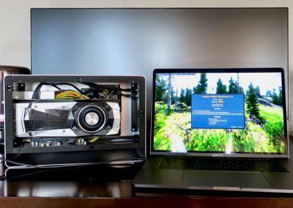 Энтузиасты подключили внешнюю видеокарту GeForce GTX 1080 Ti к MacBook Pro