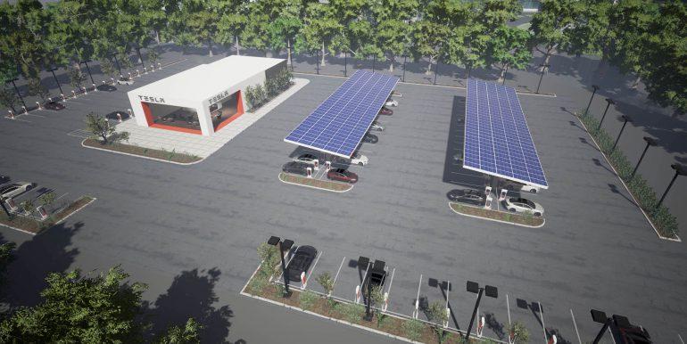 Tesla удвоит количество зарядных станций заодин год