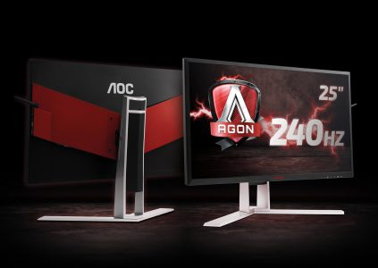 AOC AGON AG251FG — 24,5-дюймовый игровой монитор с частотой обновления 240 Гц, временем отклика 1 мс и поддержкой технологии NVIDIA G-SYNC