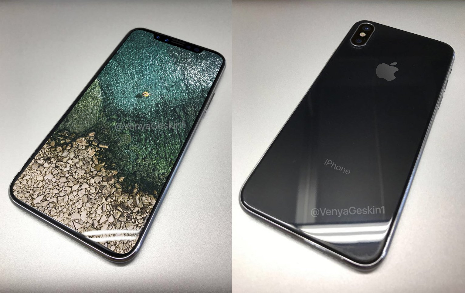 The drawings and the cover image for smartphone iPhone 8 allow to learn more about its design