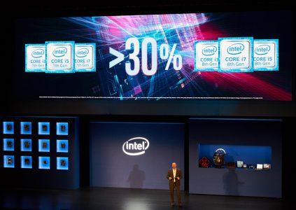Процессоры Intel Core 8-го поколения обеспечат прирост производительности на 30% по сравнению с предшественниками