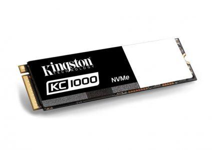 Kingston Digital представила сверхскоростной (290 тыс. IOPS) SSD-накопитель KC1000 с интерфейсом NVMe PCIe и объемом до 960 ГБ