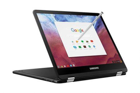 В сеть попали официальные фото «черного» хромбука Samsung Chromebook Pro, способного запускать Android-приложения на Chrome OS