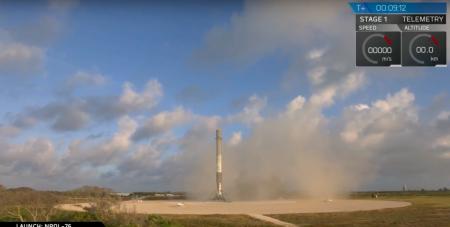 SpaceX успешно запустила засекреченный разведывательный спутник NROL-76 и вернула уже девятую по счету первую ступень Falcon 9