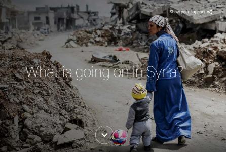 ООН и Google запустили специальный сайт, посвященный сирийскому кризису и беженцам