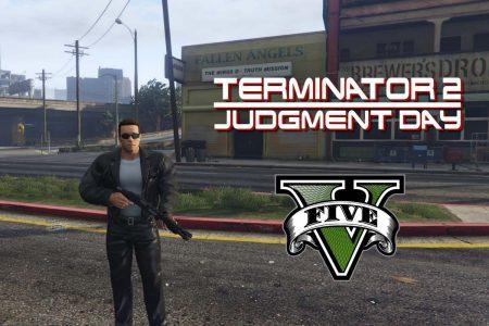 В GTA 5 воссоздали фильм «Терминатор 2: Судный день»