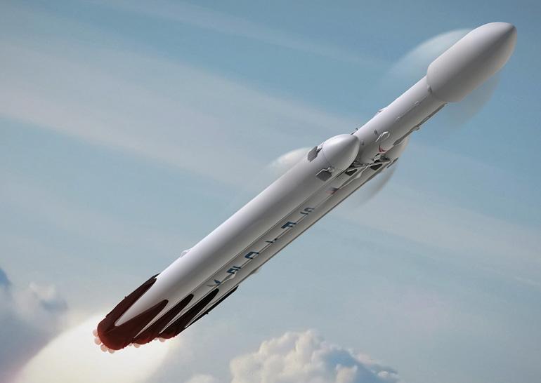SpaceX испытала боковой ускоритель Falcon Heavy