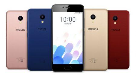 Смартфон Meizu M5c получил поликарбонатный корпус и яркие варианты расцветки