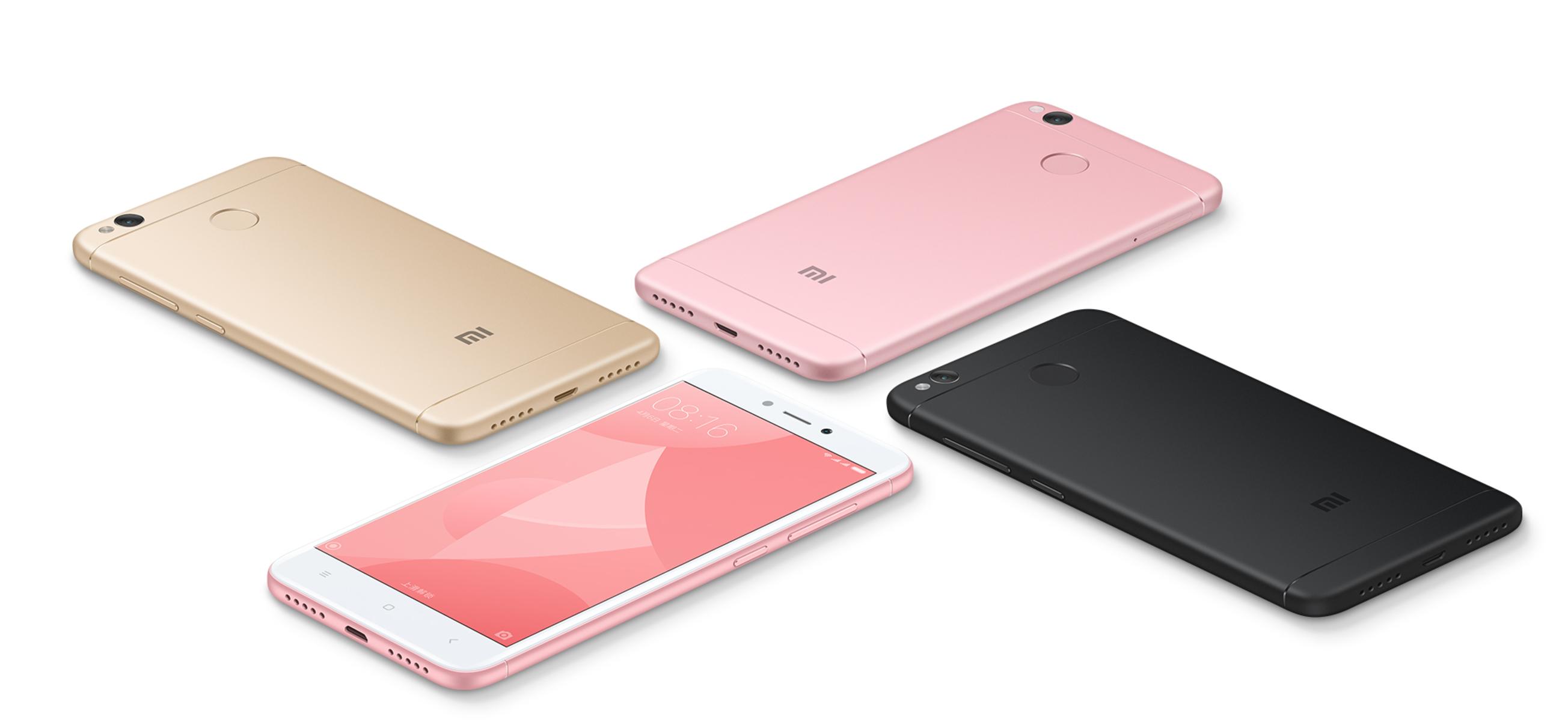 Новый вариант смартфона Xiaomi Redmi 4X с 4 ГБ ОЗУ и 64 ГБ флэш-памяти стоит $160
