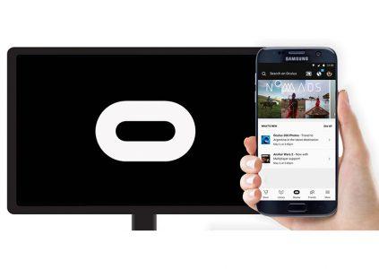 В приложение Oculus добавлена поддержка Google Chromecast для Samsung Gear VR