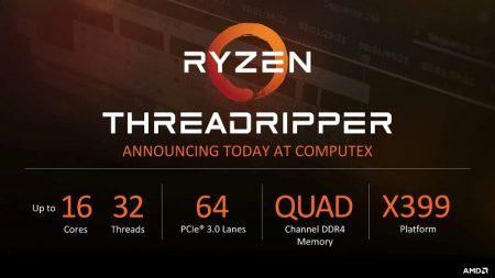По слухам, младший 16-ядерный процессор AMD Ryzen ThreadRipper будет стоить всего $849