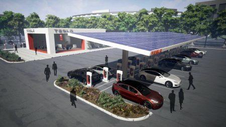 Илон Маск: Мы отключим почти все зарядные станции Supercharger от электрических сетей и переведем их на схему «солнечные панели + аккумуляторы»