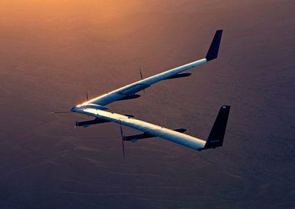 Facebook провела второй тестовый полёт и успешную посадку дрона на солнечных батареях Aquila