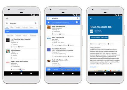 В Поиске Google теперь можно искать вакансии