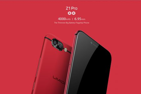 Флагманские смартфоны UMIDIGI Z1 и Z1 Pro: 6 ГБ оперативной памяти, две камеры и аккумулятор на 4000 мАч
