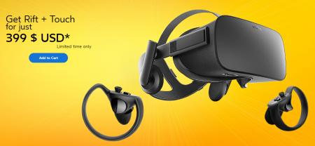Oculus во второй раз за этот год снизила цену комплекта гарнитуры Oculus Rift и контроллеров Oculus Touch на $200 (до $400)