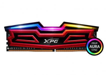 ADATA представила DDR4-модули памяти XPG SPECTRIX D40 RGB с поддержкой настраиваемой подсветки ASUS AURA Sync