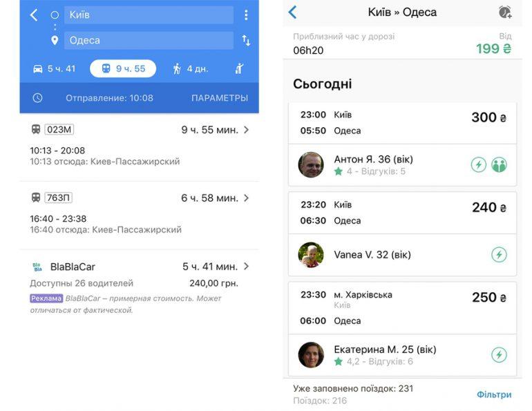 Украина и Бельгия стали первыми странами, в которых поездки на BlaBlaCar интегрировали в Google Карты