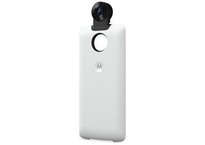 Motorola создала новую сменную панель Moto Mod с камерой, способной снимать с охватом 360 градусов