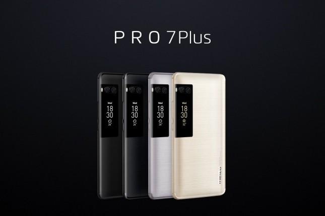 јнонсированы флагманские смартфоны Meizu Pro 7 и Pro 7 Plus с дополнительными экранами на задней панели и сдвоенными камерами