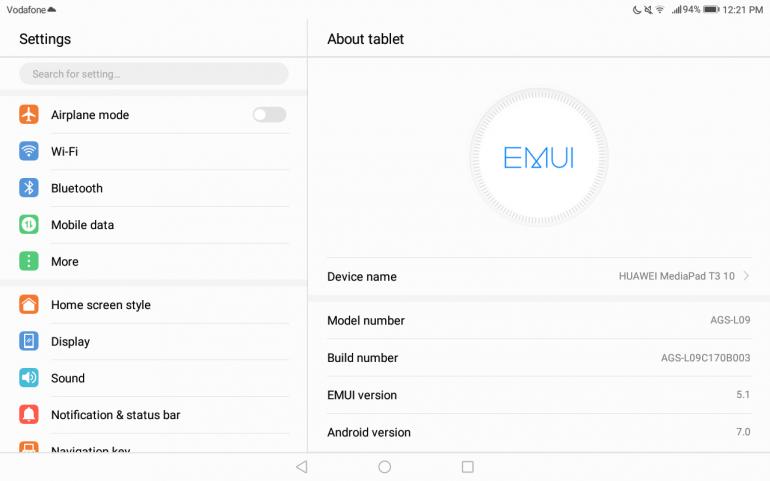 Обзор планшета Huawei MediaPad T3 10