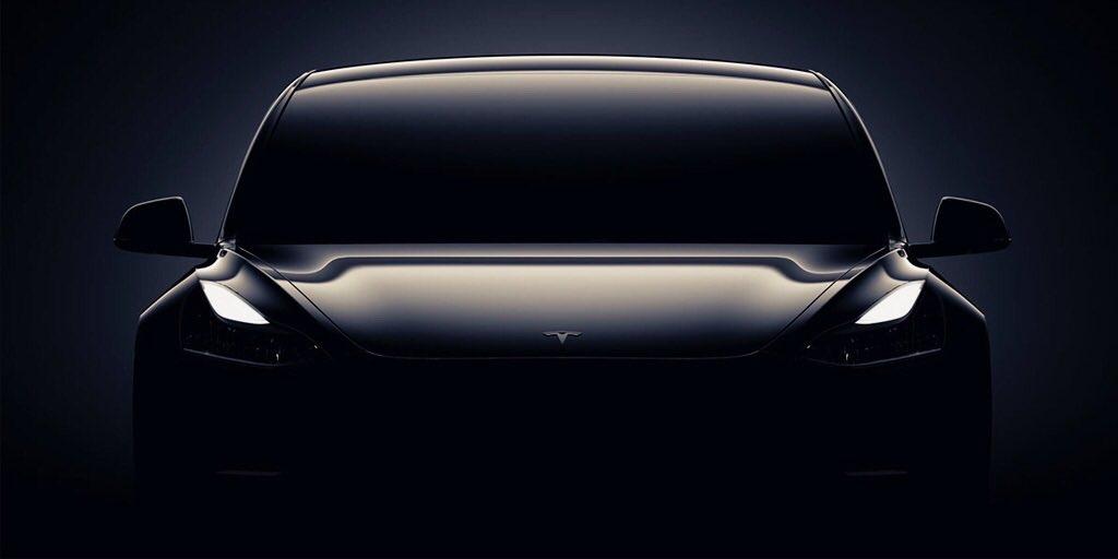 Электромобиль Tesla Model впервый раз показали нафото