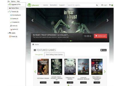 Торрент-клиент uTorrent запустил собственный магазин игр
