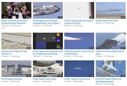 NASA выложило на YouTube архивные кадры испытаний самолетов: 500 видеозаписей начиная с 1947 года