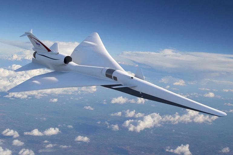 NASA планирует сделать тихий сверхзвуковой самолет