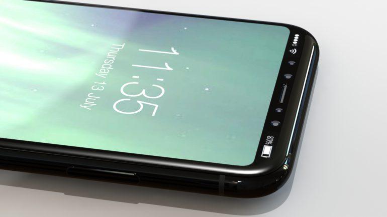 В сеть попал финальный дизайн iPhone 8: скругленный 5,8-дюймовый OLED-экран со служебной панелью, сканер отпечатков в кнопке питания и ценник $1100-$1200