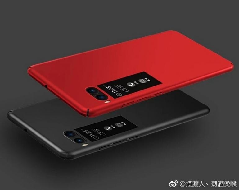 Новый смартфон Meizu Pro 7 снабдят дополнительным цветным экраном