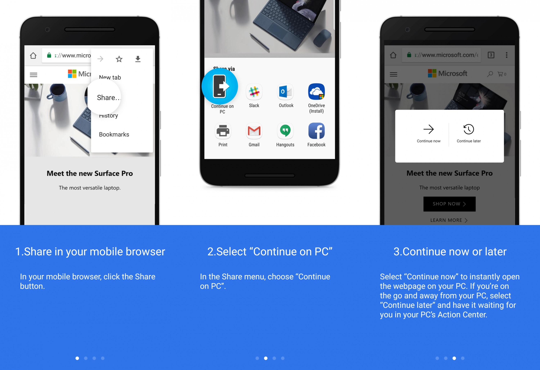 Новая сборка Windows 10 обеспечивает сопряжениеПК сAndroid-смартфоном