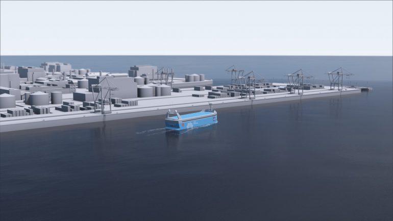 В 2018 году в Норвегии спустят на воду первый в мире беспилотный электрический контейнеровоз Yara Birkeland