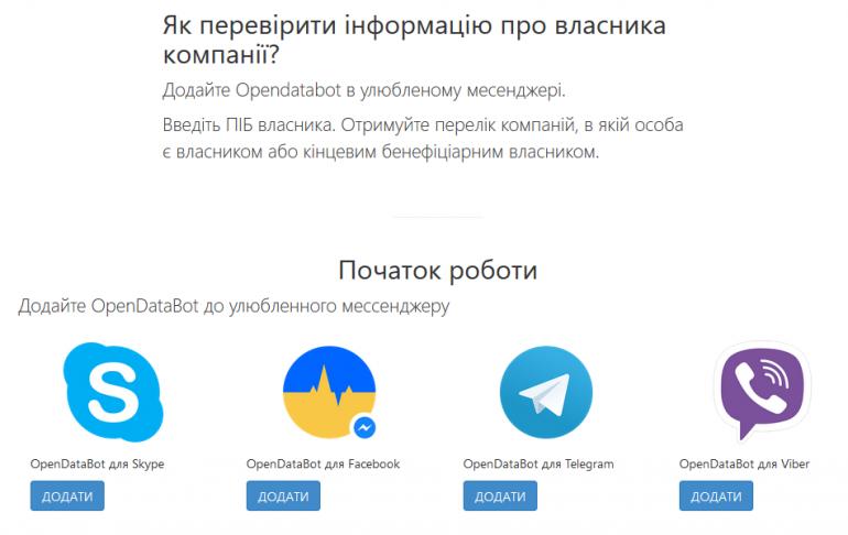 В Opendatabot появился поиск по владельцам компаний: 2,6 млн украинцев владеют 1,5 млн компаний