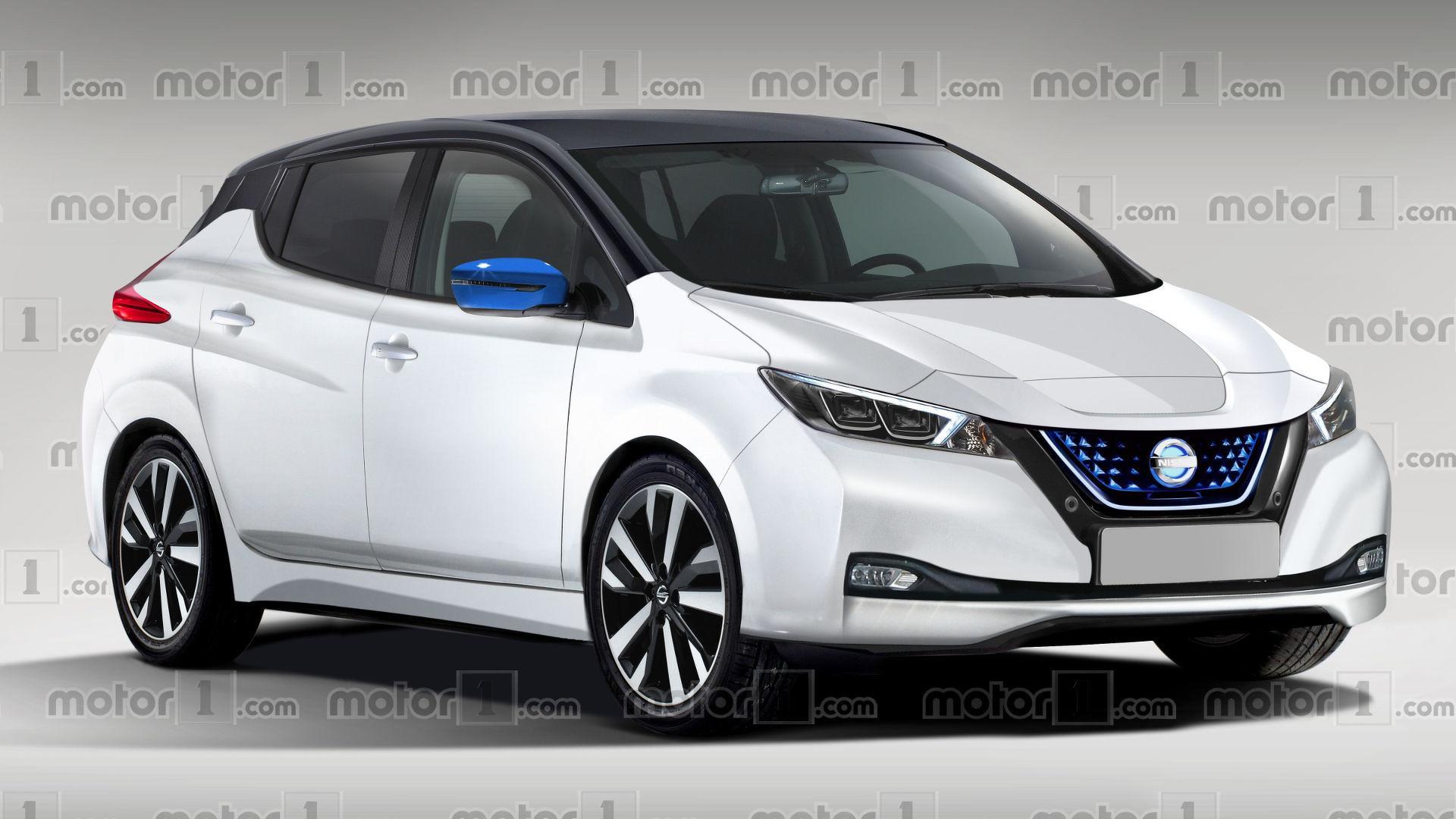 Тизер второго поколения электромобиля Nissan Leaf появился в интернете