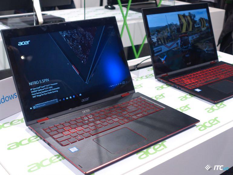 Знакомство с новыми ультрабуками и трансформерами Acer Swift 5, Spin 5, Switch 7 Black Edition [IFA 2017]