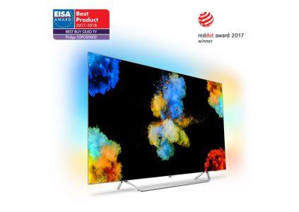 OLED телевизор Philips 55POS9002 получил награду от EISA в категории «Лучшая покупка OLED TV 2017‐2018»